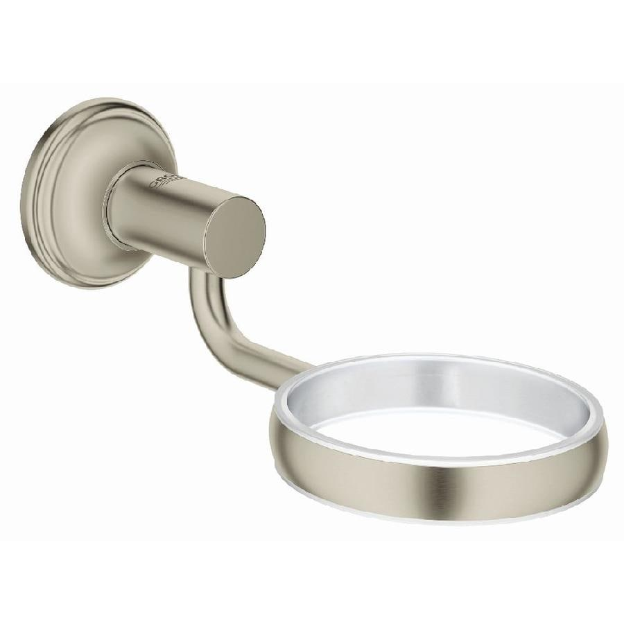 GROHE Essentials Authentic Brushed Nickel Infinity Brass Soap Dish