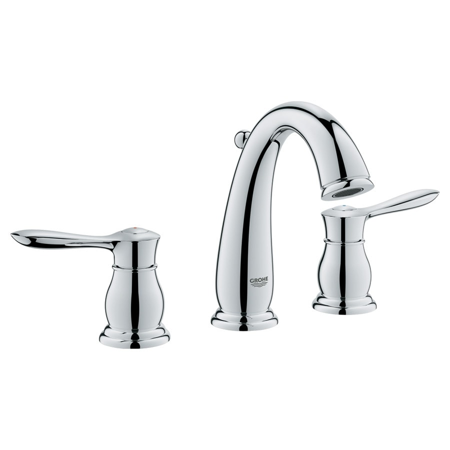 Shop Grohe Parkfield Starlight Chrome 2 Handle Widespread Bathroom Faucet Drain Included At