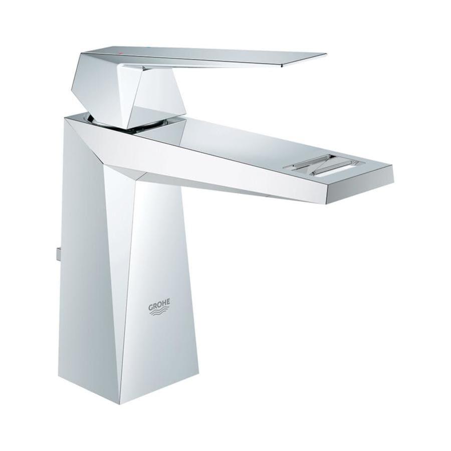 GROHE Allure Brilliant Starlight Chrome 1-Handle Single Hole Bathroom Faucet (Drain Included)