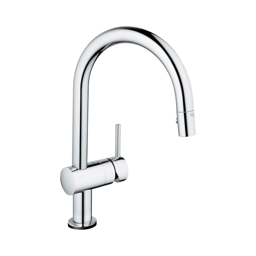 GROHE Minta Touch Starlight Chrome 1-Handle Pull-Down Touch Kitchen Faucet