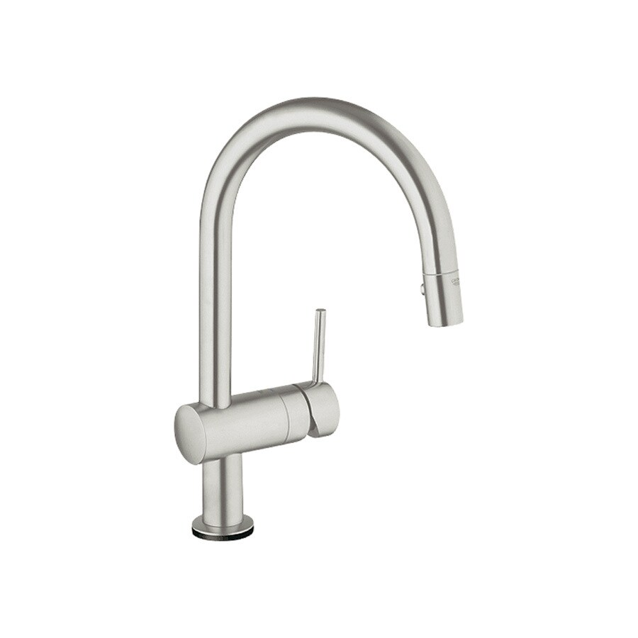 Shop GROHE Minta Touch SuperSteel 1-Handle Pull-Down Touch Kitchen ...