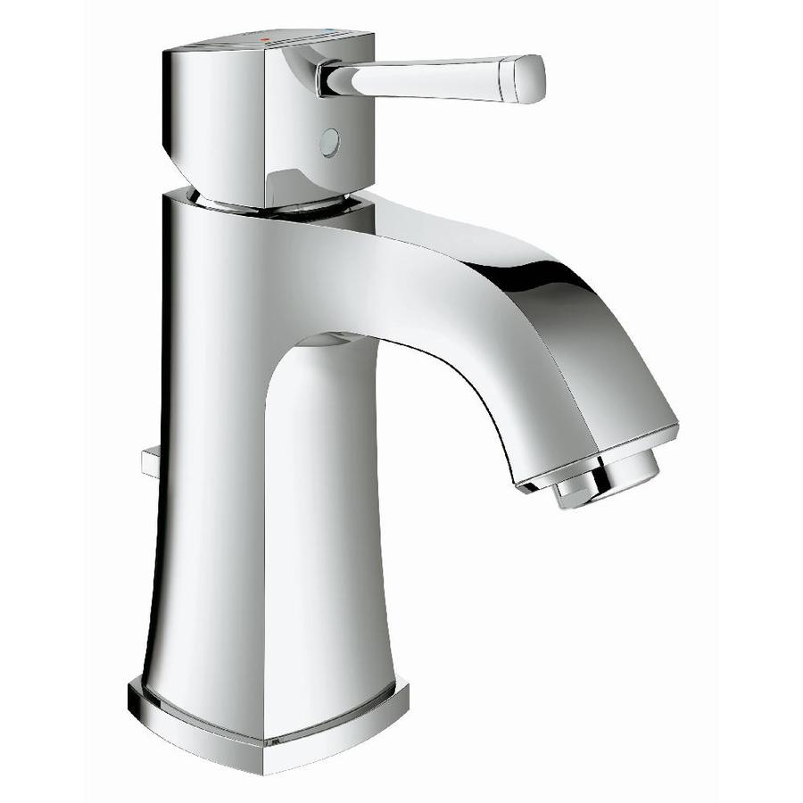Shop Grohe Grandera Starlight Chrome 1 Handle Single Hole Watersense Bathroom Faucet Drain