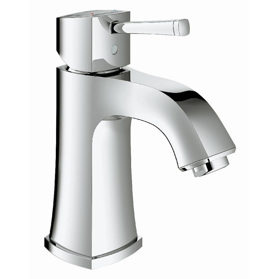 GROHE Grandera Starlight Chrome 1-Handle Single Hole WaterSense Bathroom Faucet