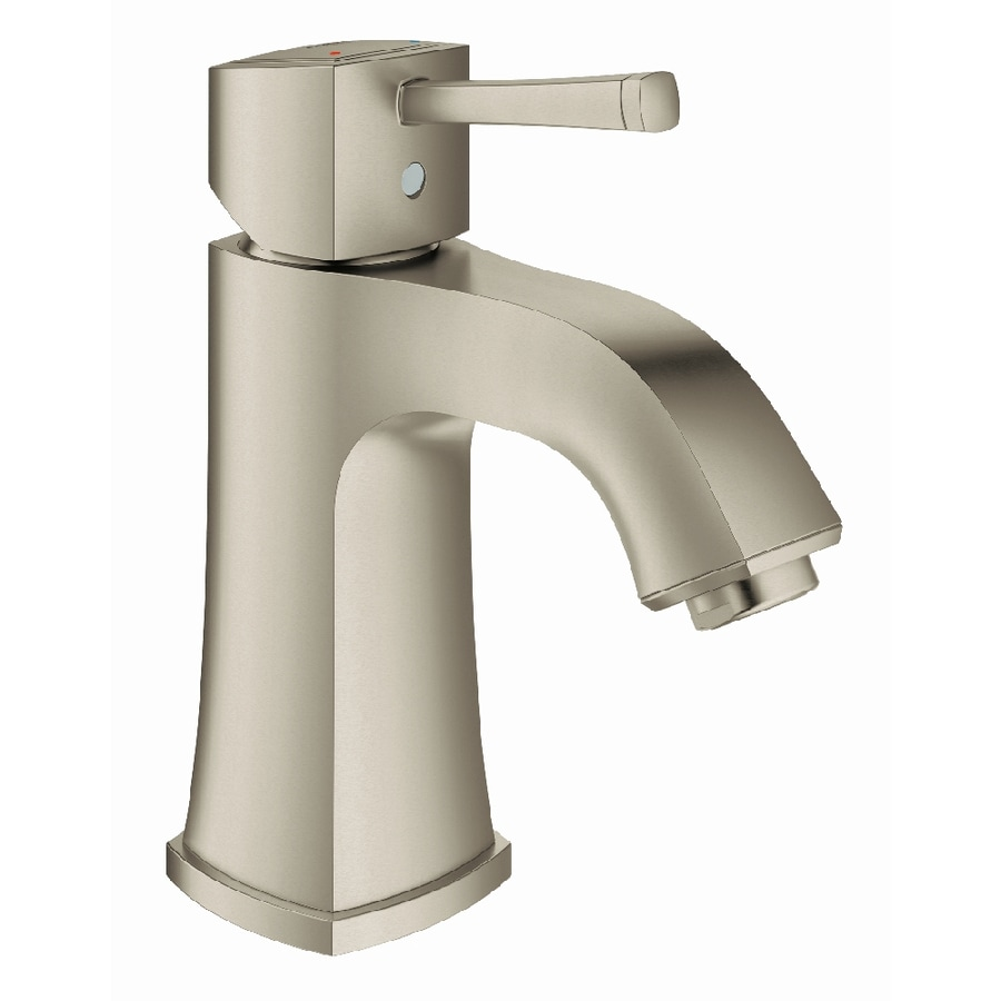 GROHE Grandera Brushed Nickel Infinity 1-Handle Single Hole WaterSense Bathroom Faucet
