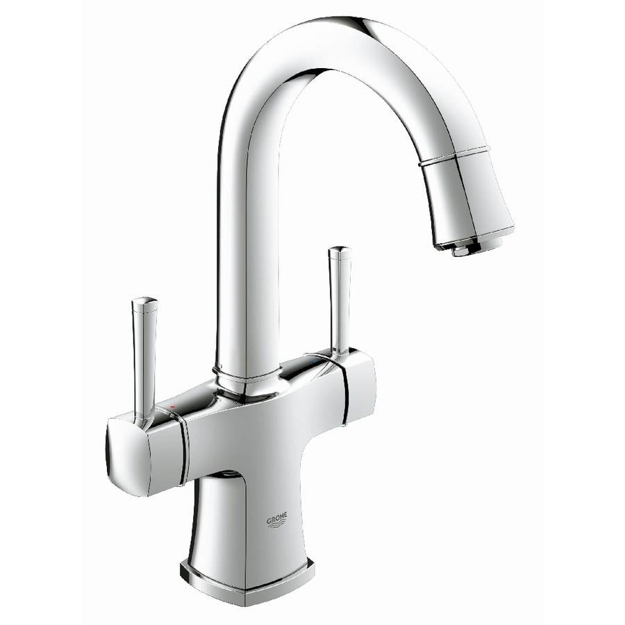 GROHE Grandera StarLight Chrome 2-Handle Single Hole WaterSense Bathroom Faucet (Drain Included)
