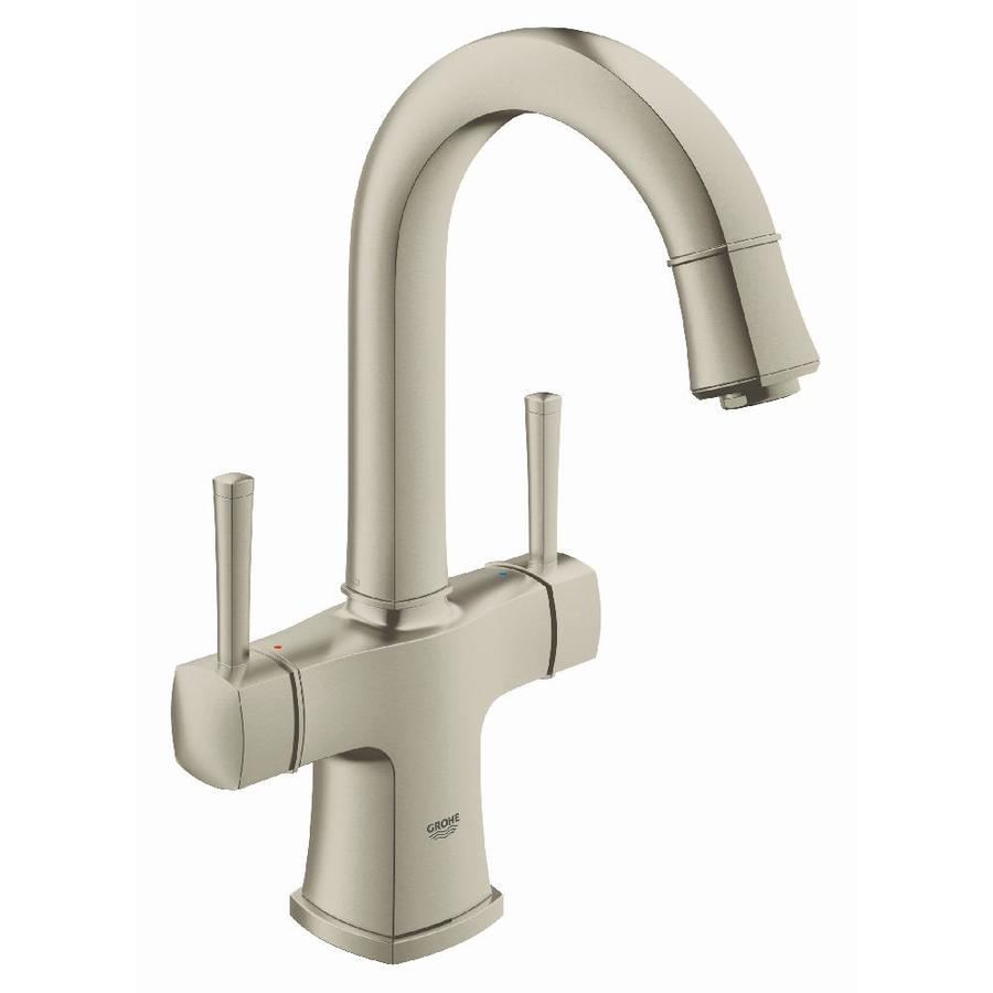 GROHE Grandera Brushed Nickel Infinity 2-Handle Single Hole WaterSense Bathroom Faucet (Drain Included)