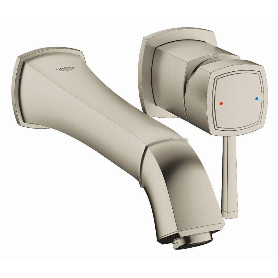 GROHE Grandera Brushed Nickel Infinity 1-Handle Vessel WaterSense Bathroom Faucet