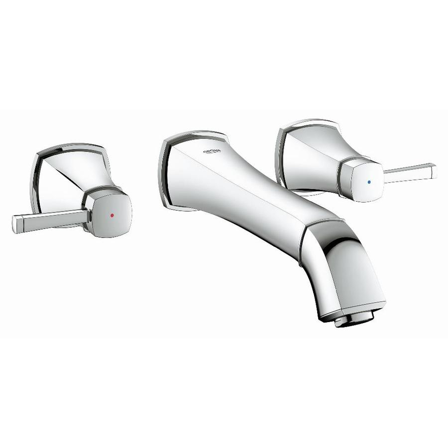 GROHE Grandera Starlight Chrome 2-Handle Vessel WaterSense Bathroom Faucet