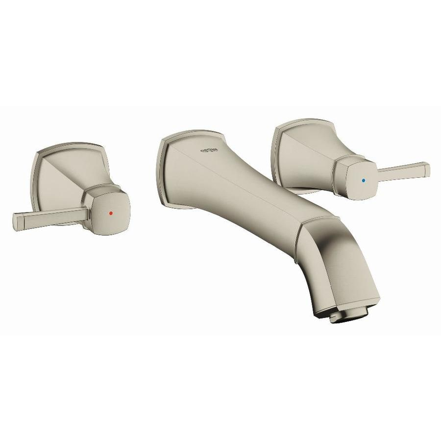 GROHE Grandera Brushed Nickel Infinity 2-Handle Vessel WaterSense Bathroom Faucet