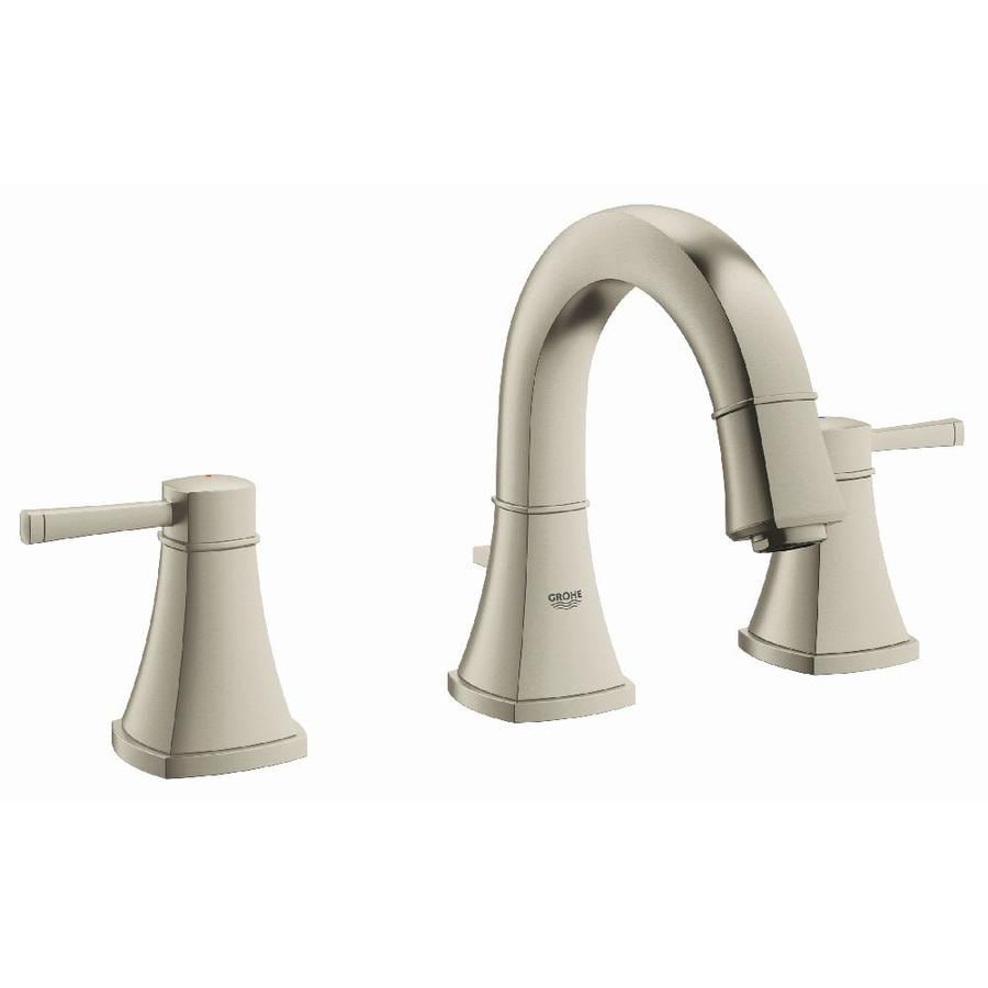 Shop Grohe Grandera Brushed Nickel Infinity 2 Handle Widespread Watersense Bathroom Faucet