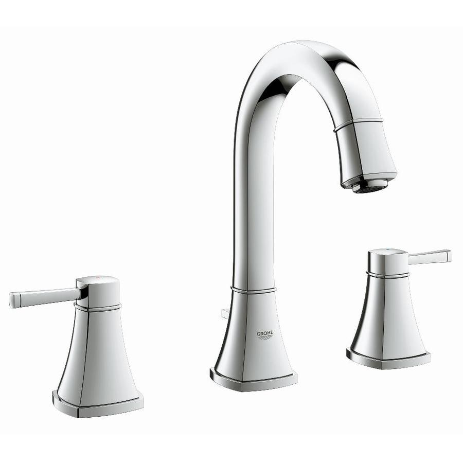 GROHE Grandera Starlight Chrome 2-Handle Widespread WaterSense Bathroom Faucet (Drain Included)