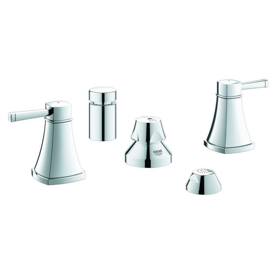GROHE Grandera Starlight Chrome Vertical Spray Bidet Faucet