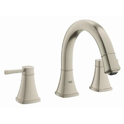 Deck Mount Bathtub Faucet.Grohe Grandera Brushed Nickel Infinity 2 Handle Deck Mount