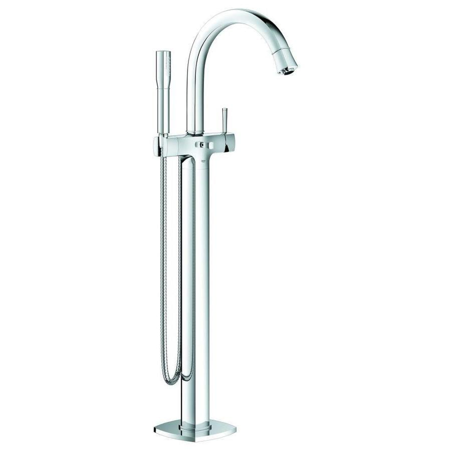 GROHE Grandera Starlight Chrome 1-Handle Fixed Freestanding Tub Faucet