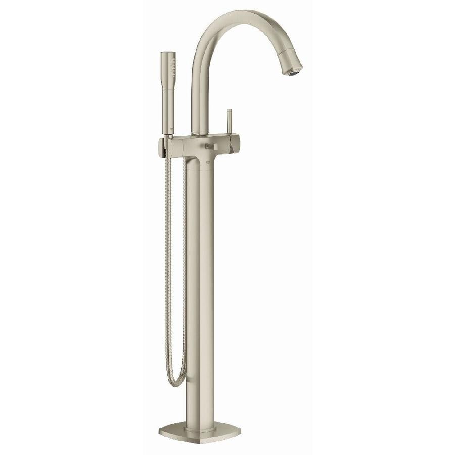 GROHE Grandera Brushed Nickel Infinity 1-Handle Fixed Freestanding ...