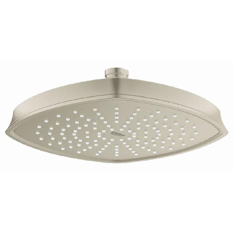 GROHE Grandera 8.25-in 2.5-GPM (9.5-LPM) Brushed Nickel 1-Spray Showerhead