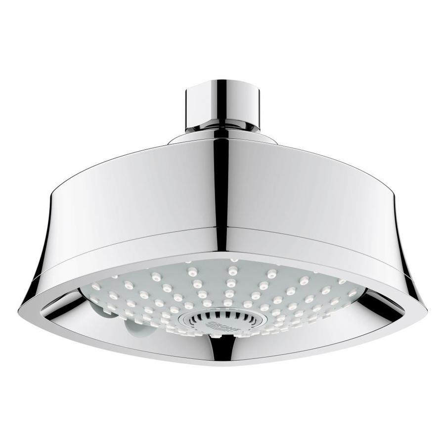 GROHE Euphoria Grandera 5.5-in 2.0-GPM (7.6-LPM) Starlight Chrome 3-Spray Showerhead
