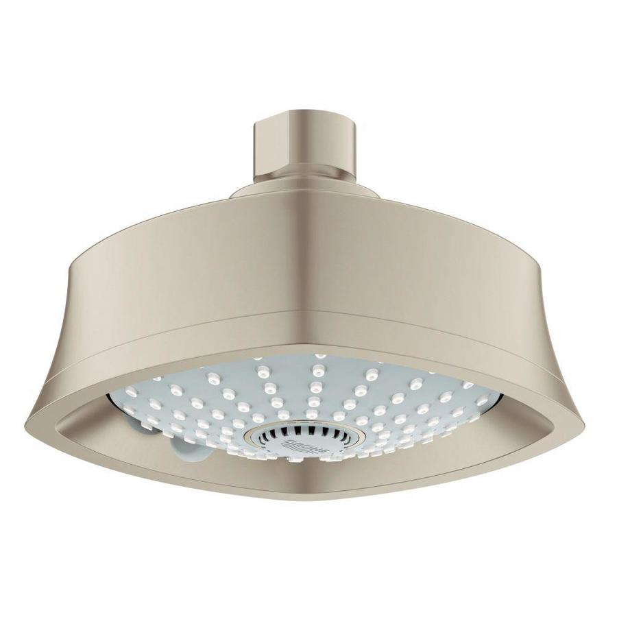 GROHE Euphoria Grandera 5.5-in 2.0-GPM (7.6-LPM) Brushed Nickel 3-Spray Showerhead