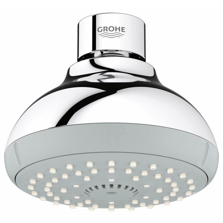 GROHE New Tempesta IV 4-in 2.0-GPM (7.6-LPM) Starlight Chrome 4-Spray WaterSense Showerhead