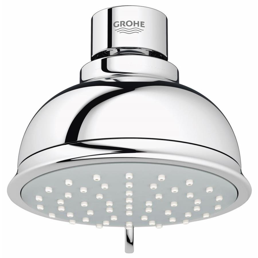 GROHE New Tempesta Rustic II 4-in 1.75-GPM (6.6-LPM) Starlight Chrome 2-Spray Showerhead