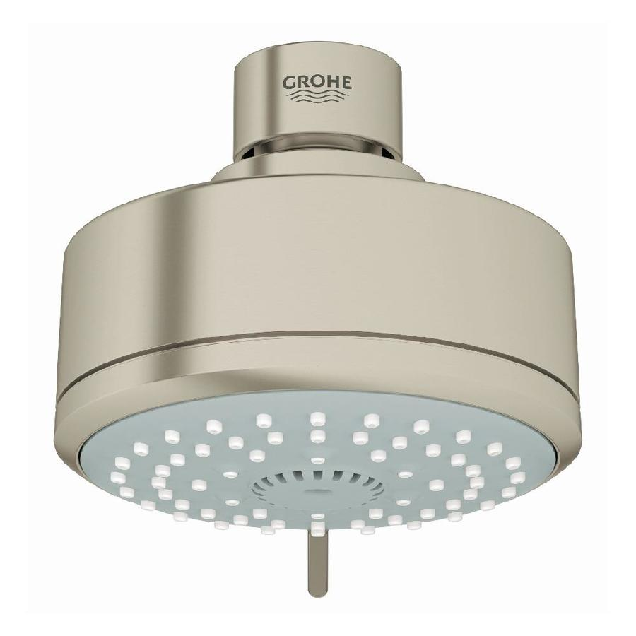 GROHE New Tempesta Cosmopolitan IV 4-in 2.5-GPM (9.5-LPM) Brushed Nickel 4-Spray Showerhead