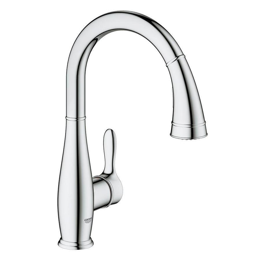GROHE Parkfield Starlight Chrome 1-Handle High-Arc Kitchen Faucet