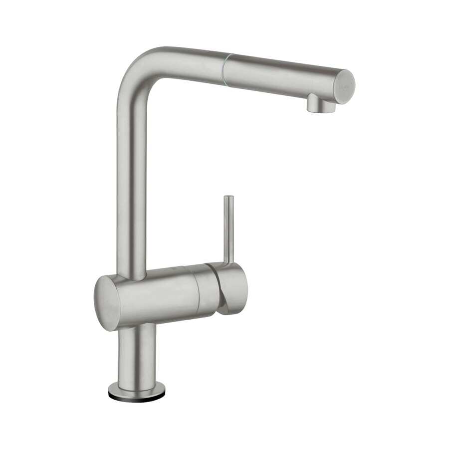 shop grohe minta touch supersteel 1 handle pull out touch