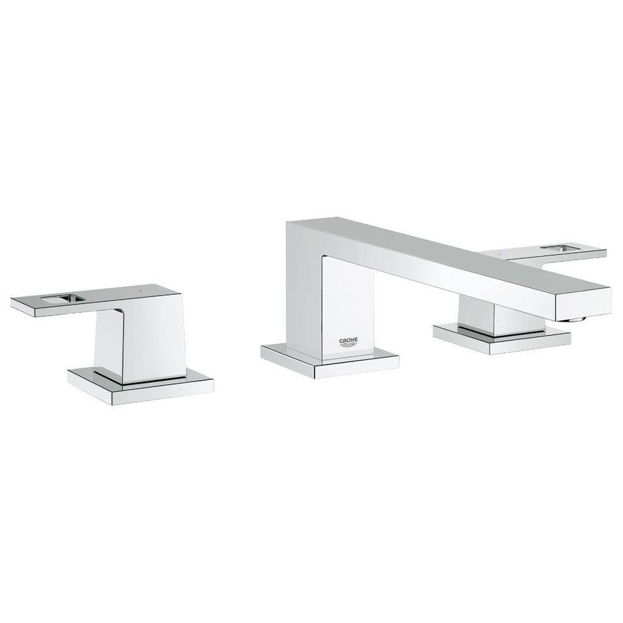 GROHE Eurocube Chrome 2-Handle Deck Mount Bathtub Faucet