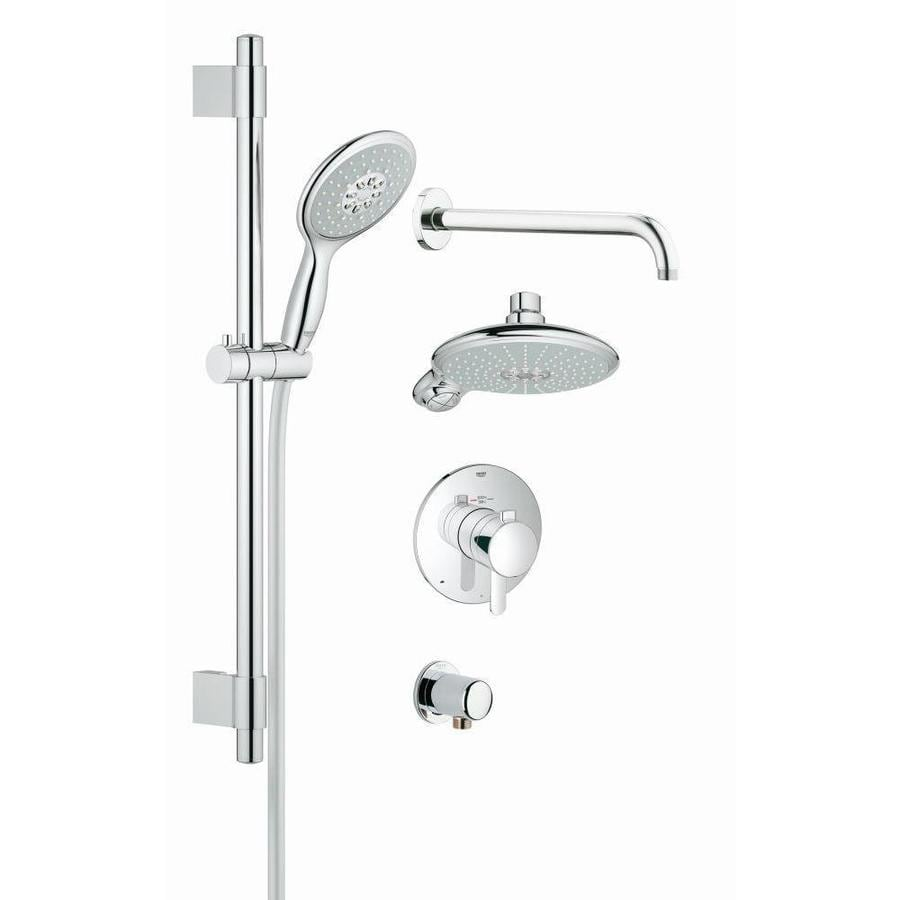 Shop GROHE GrohFlex Chrome 4-Spray Shower Head at Lowes.com