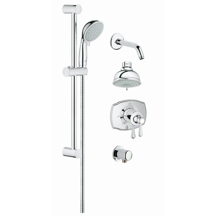 GROHE GrohFlex 3.9375-in Chrome WaterSense Showerhead with Hand Showers