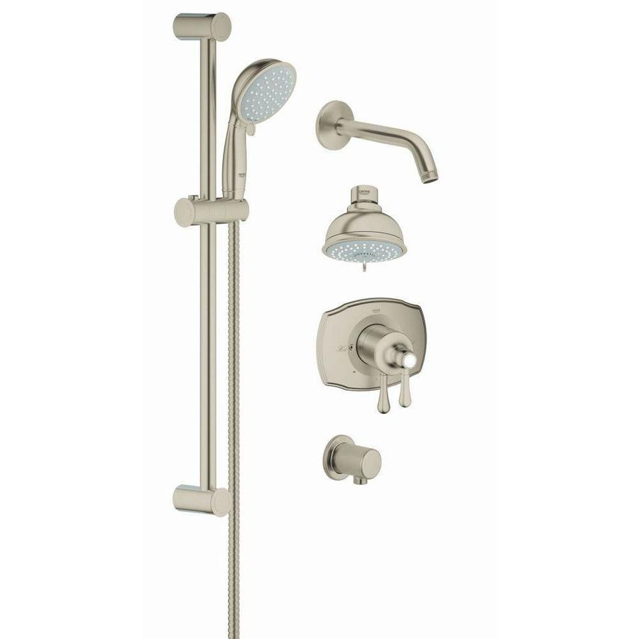 Shop GROHE Grohflex Brushed Nickel Shower Head At