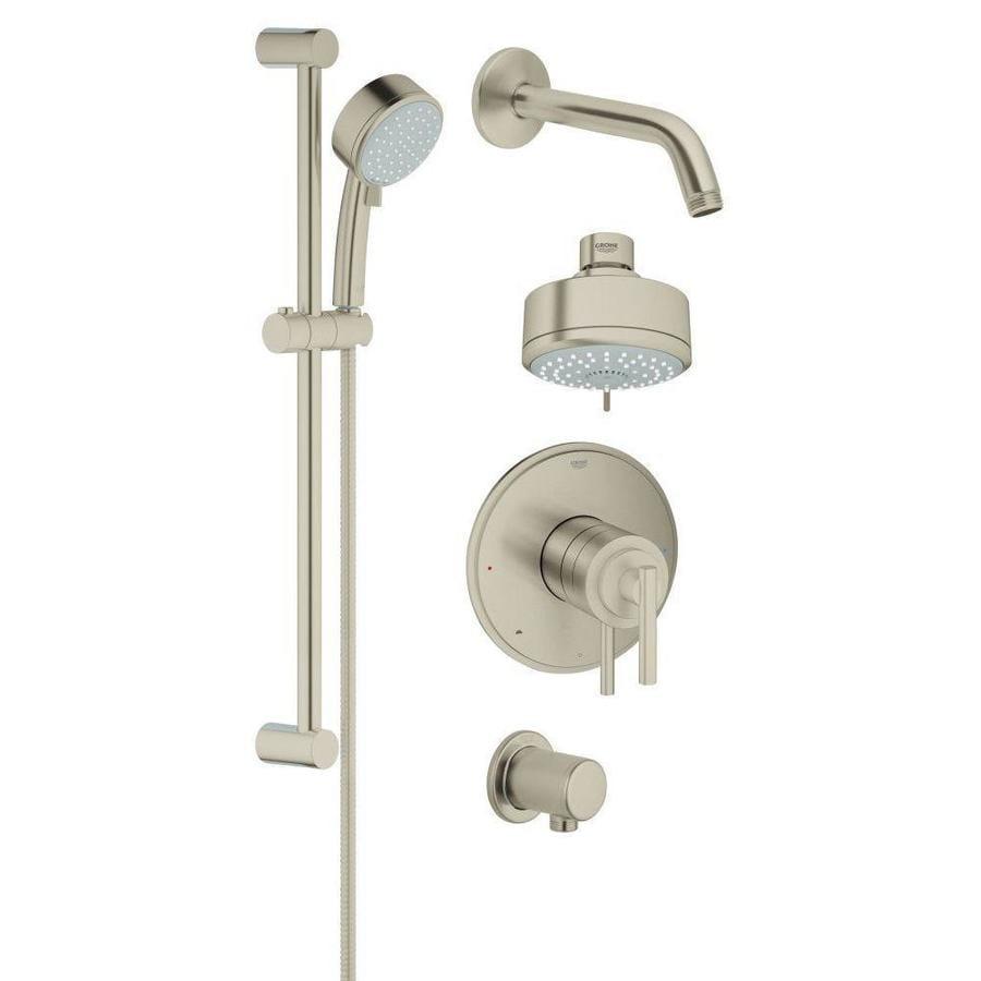 GROHE GrohFlex Brushed Nickel 4 Spray Shower Head