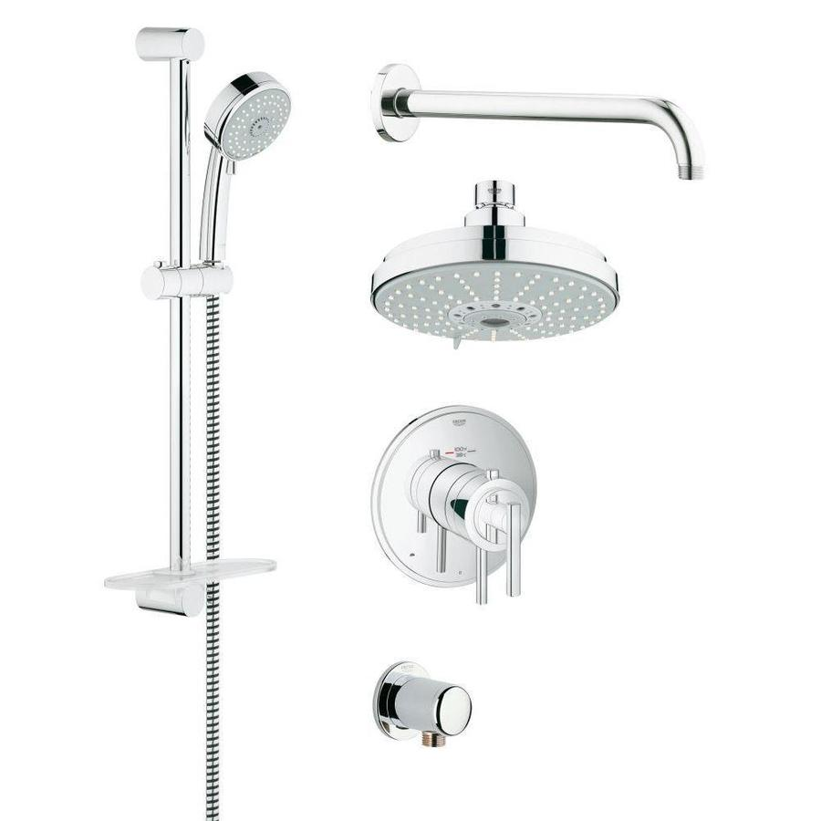 GROHE GrohFlex 6.3125-in Chrome Showerhead with Hand Showers