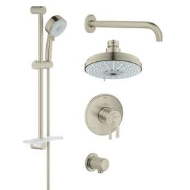 GROHE GrohFlex Brushed Nickel Spray Shower Head Shop Heads at Lowes com