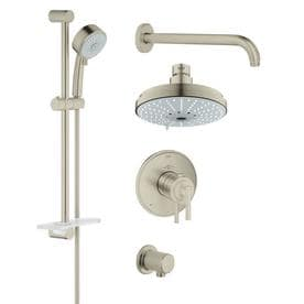 rain shower head with wand. GROHE GrohFlex Brushed Nickel Spray Shower Head Shop Heads at Lowes com