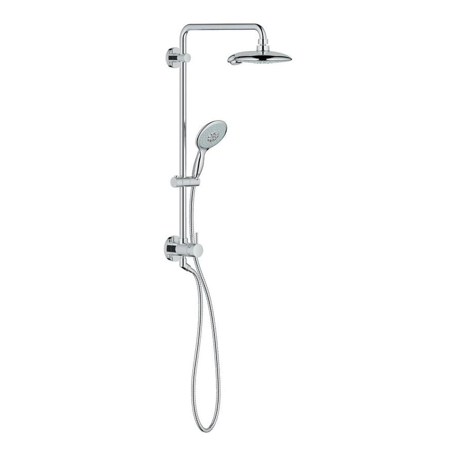 shop grohe retrofit starlight chrome shower head at. Black Bedroom Furniture Sets. Home Design Ideas
