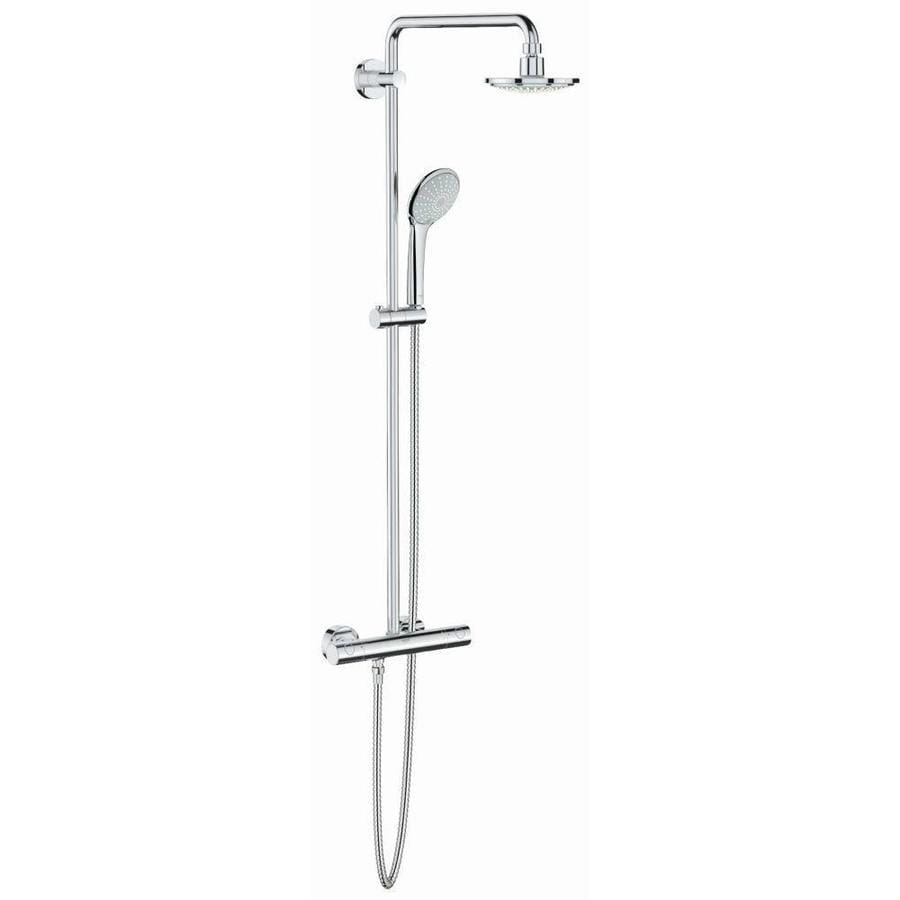 GROHE Euphoria 7.0625-in Chrome Showerhead with Hand Showers