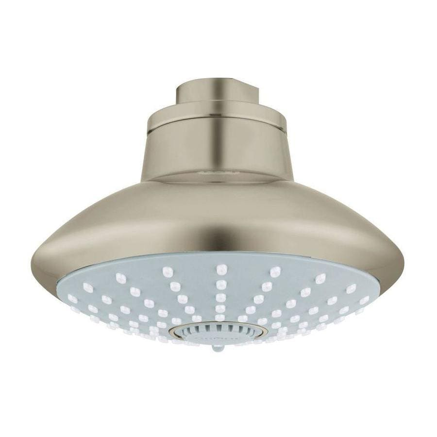 GROHE Euphoria 4.625-in 2.5-GPM (9.5-LPM) Brushed Nickel 3-Spray Showerhead