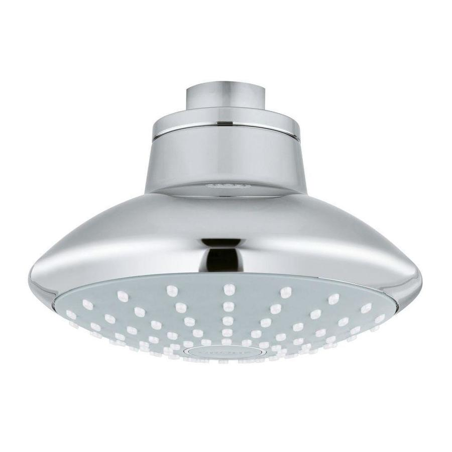 GROHE Euphoria 4.625-in 2.0-GPM (7.6-LPM) Chrome WaterSense Showerhead
