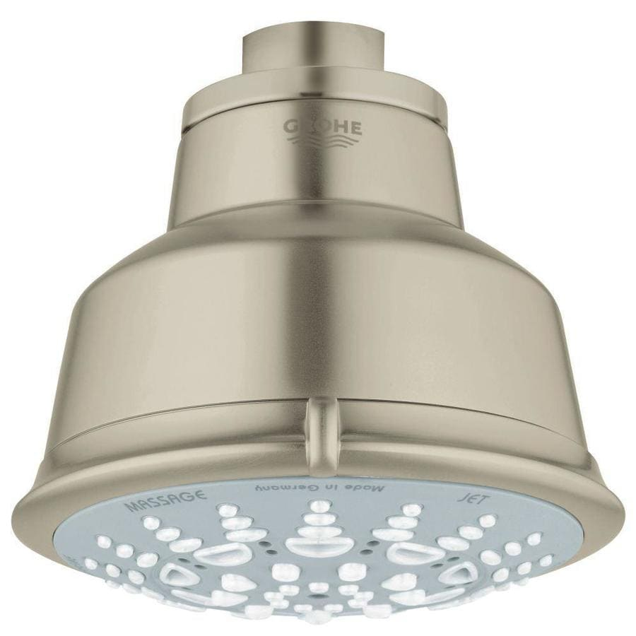 GROHE Relexa Rustic 4.0625-in 2.5-GPM (9.5-LPM) Brushed Nickel 5-Spray Showerhead