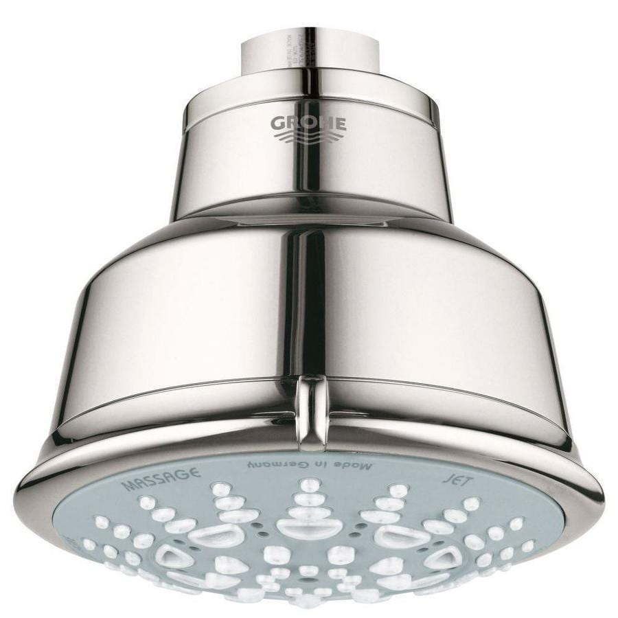GROHE Relexa Rustic 4.0625-in 2.5-GPM (9.5-LPM) Brilliant Nickel 5-Spray Showerhead