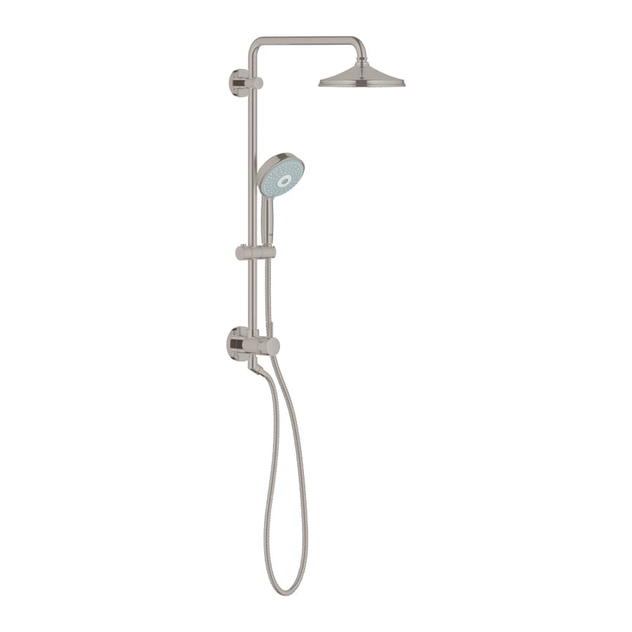 GROHE Retrofit Brushed Nickel Shower Head