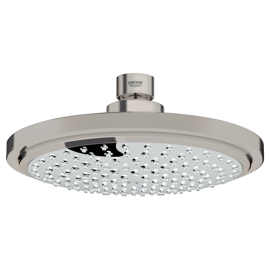 GROHE Euphoria Cosmopolitan 7.0625-in 2.5-GPM (9.5-LPM) Brushed Nickel 1-Spray Showerhead