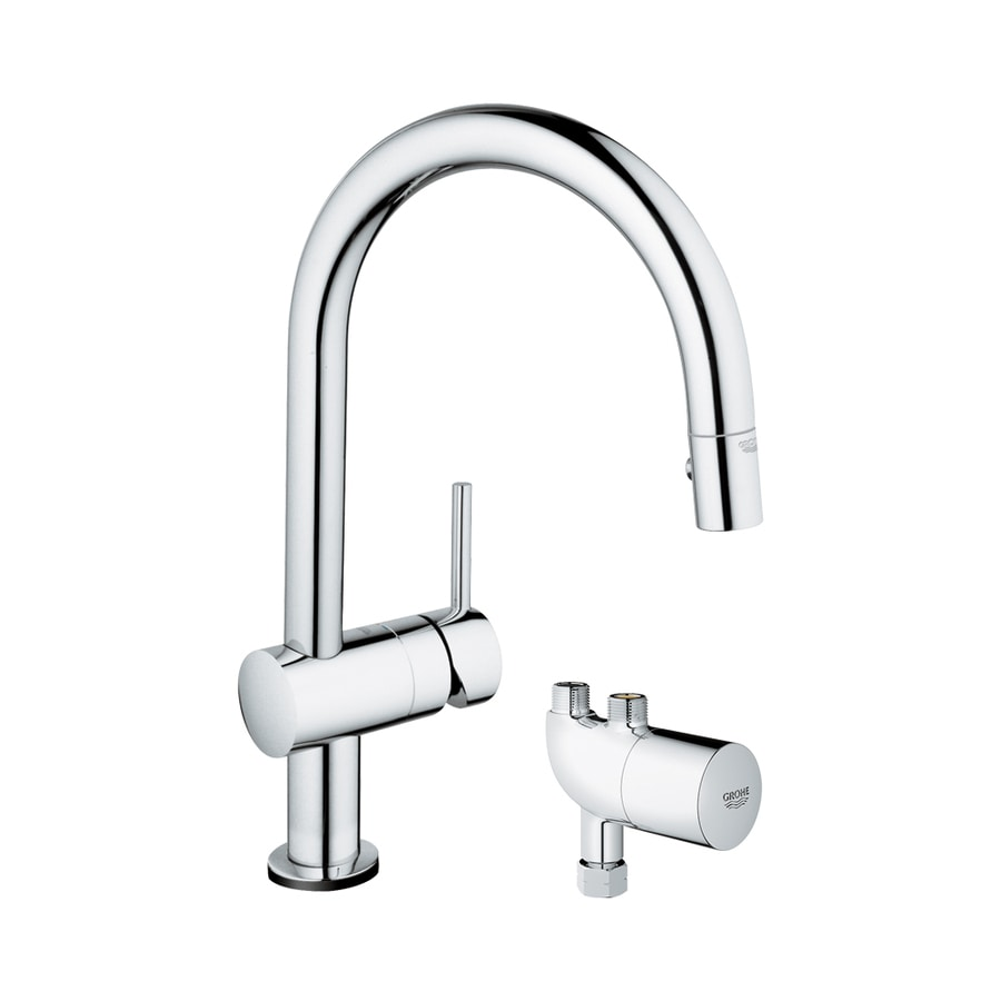 GROHE Minta Touch + Starlight Chrome 1-Handle Pull-Down Touch Kitchen Faucet