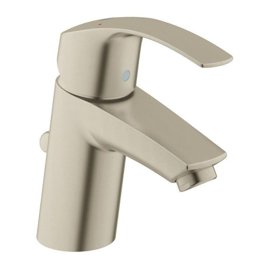 GROHE Eurosmart Brushed Nickel 1-Handle Single Hole WaterSense Bathroom Faucet (Drain Included)