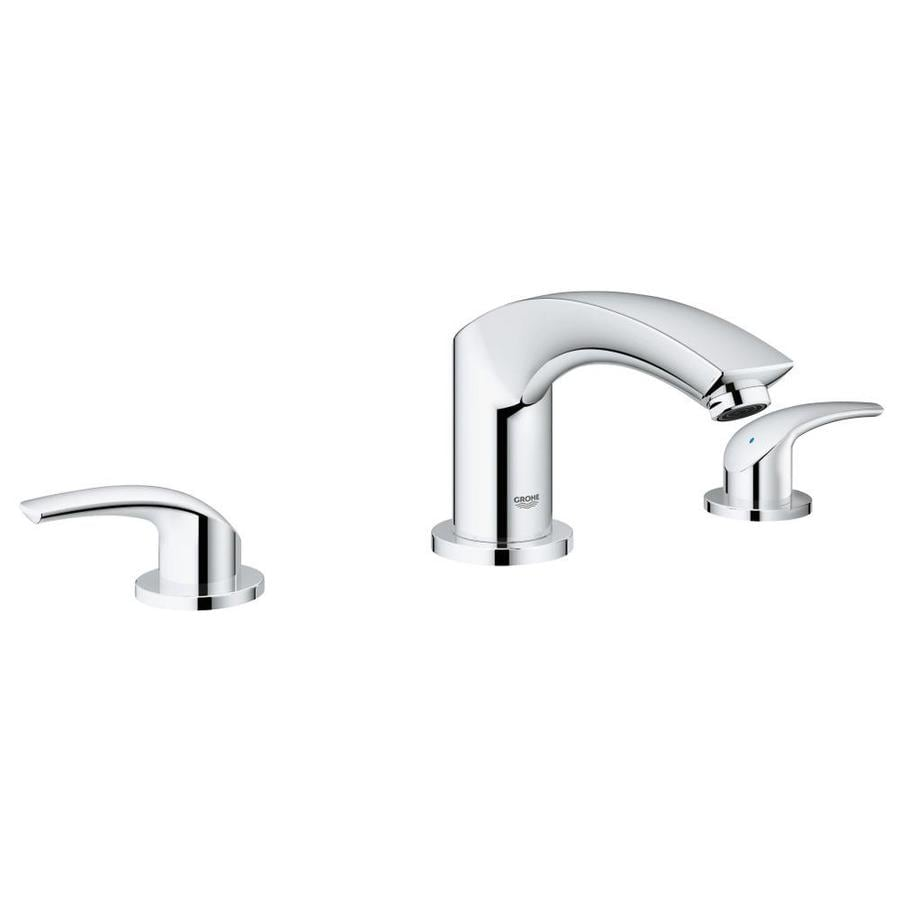 GROHE Eurosmart Chrome 2-Handle Fixed Deck Mount Bathtub Faucet