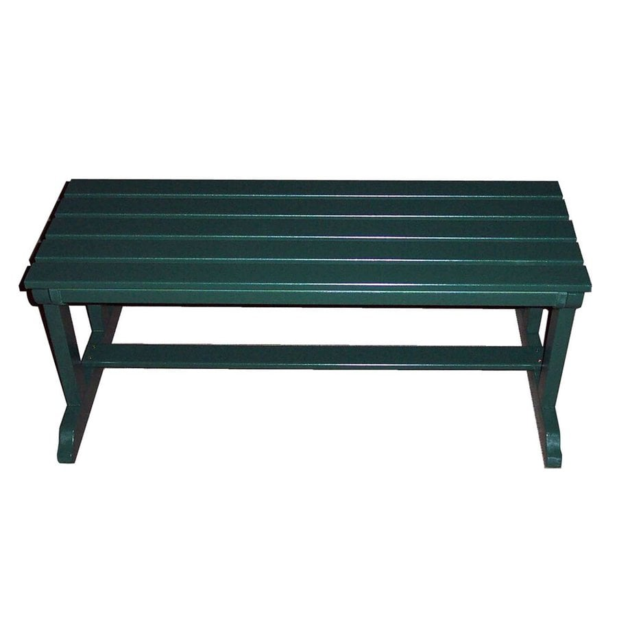Prairie Leisure Design 22-in W x 44-in L Hunter Green Pine Patio Bench