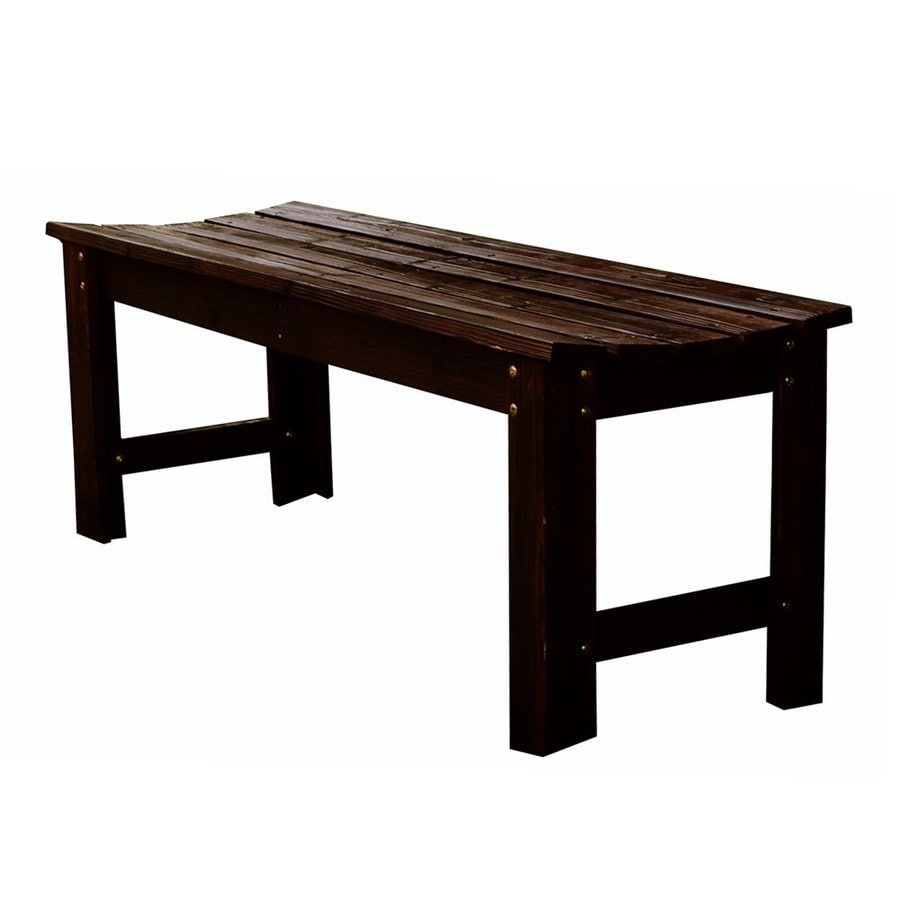 Shine Company 17-in W x 48-in L Burnt Brown Cedar Patio Bench