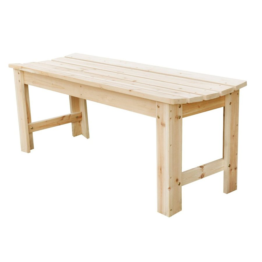 Shine Company 17-in W x 48-in L Natural Cedar Patio Bench