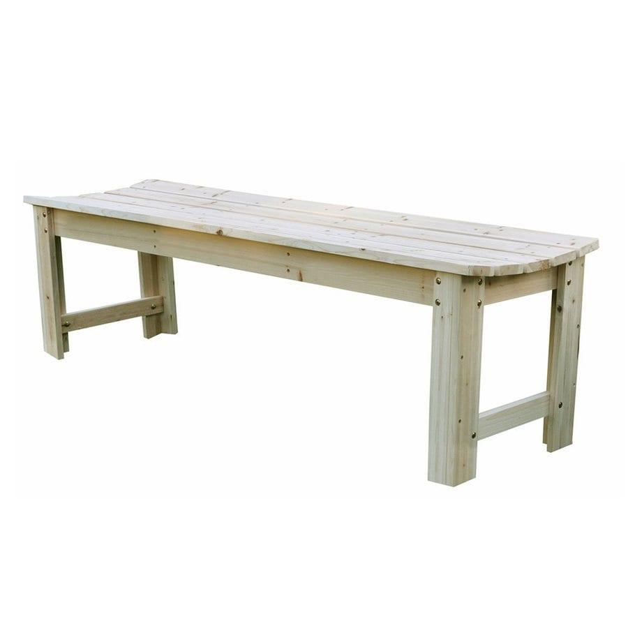 Shine Company 17-in W x 60-in L Natural Cedar Patio Bench